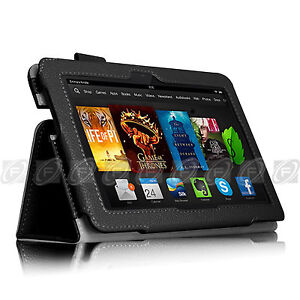 PU Leather Cover Smart Case /Accessories For 2013 Kindle Fire HDX 7 / HDX 8.9