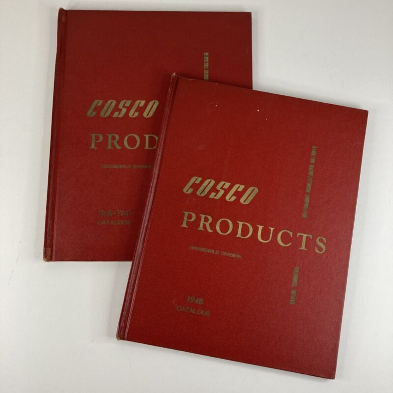 Lot of 2 Vintage Cosco Stool Catalog 1940 1948 Mid-Century Advertising Hardback