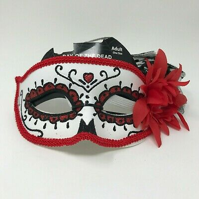 Day Of The Dead Dia De Los Muertos - Adult Day Of The Dead Skull Maske
