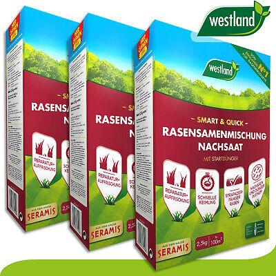 Westland 3x 2,5 KG Smart & Quick Rasensamenmischung Reseeding » England Id 1«