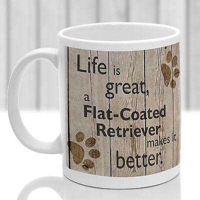 Flat Coated Retriever dog mug, Retriever dog gift, ideal pre
