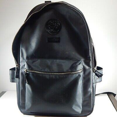 Gray/Black Versace Parfums Backpack