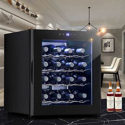 16 Bottles Thermal Electric Wine Cooler Refrigerator Cellar Bar Wine Rack
