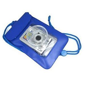 Bleu appareil photo numerique sous leau etanche etui dry for Fenetre etanche a l eau