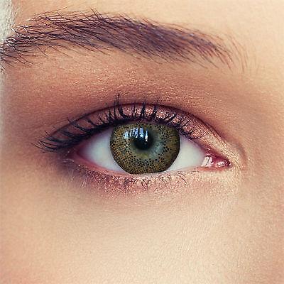2 Braune Kontaktlinsen Funlinsen mit Stärke Design: Natural Brown Designlenses©
