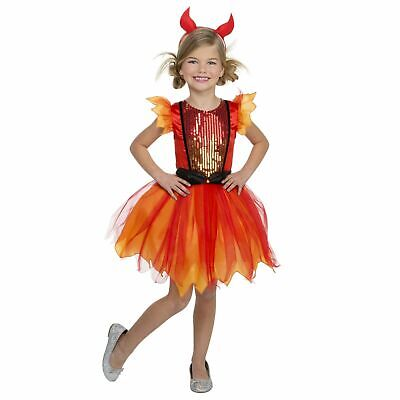 Devil Costume For Girl (Girl Devil Darling Halloween Dress Up / Role Play Costume Size Medium)