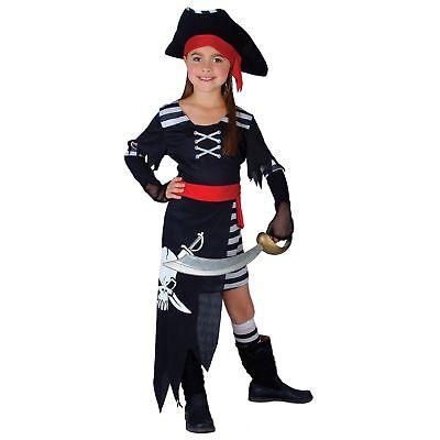 Pirate Princess Ship Fantasy Fairytale Storybook Kids Childs Fancy Dress Costume