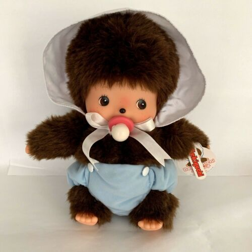"Sekiguchi Bebichhichi Large 12""  Size Plush Doll BBCC Boy Baby Blue Diaper"
