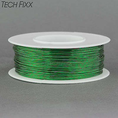 Magnet Wire 22 Gauge AWG Enameled Copper 125 Feet Coil Winding and Crafts Green
