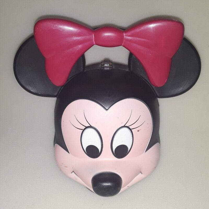 Vintage HTF Rare Aladdin Minnie Mouse Head Lunch Box Plastic No Thermos Disney