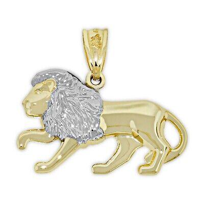 - Gold Leo Zodiac Charm - 10 Karat Gold - Double sided