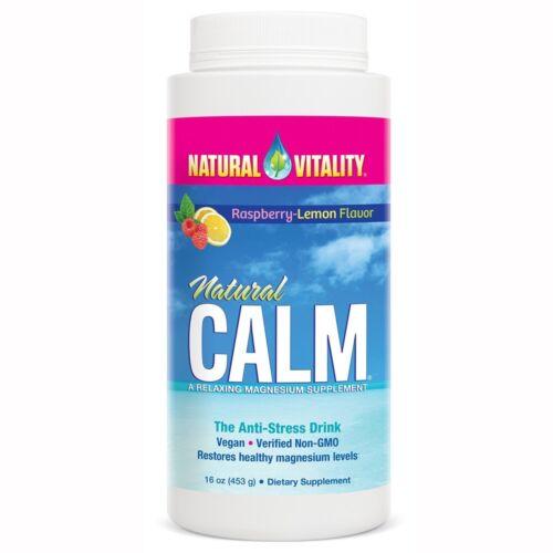 Peter Gillham Natural Calm Magnesium - Powder - 16 Oz - Raspberry Lemon