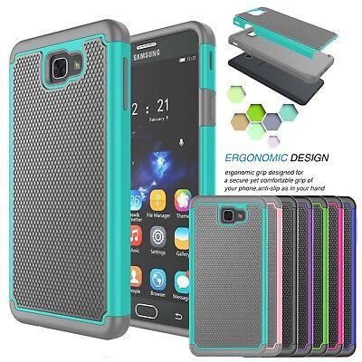 For Samsung Galaxy J7 Sky Pro / J7 Perx / J7 V Shockproof Rubber Hard Case Cover