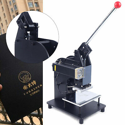 500w Manual Hot Foil Stamping Machine Heat Press Machine Bronzing Leather Ac110v
