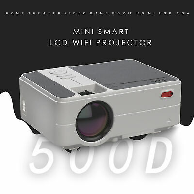 Mini Android Blue-tooth Projector 1080P HD WiFi LED LCD Backyard Christmas Party