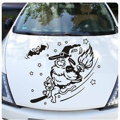 Eule Hexe Katze Autoaufkleber Auto Aufkleber Motorhaube Fledermaus Sterne A4085