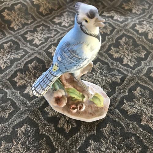 Vintage Napcoware China Japan Bisque Porcelain Blue Jay Bird Figurine B3154 (NF)