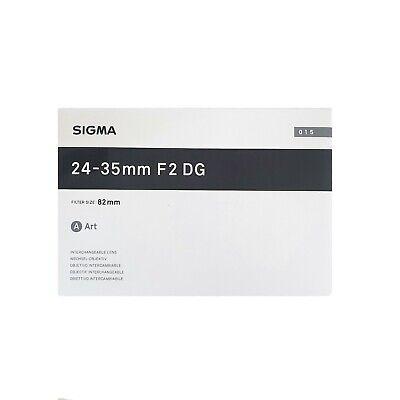 Sigma AF 24-35mm F2.0 DG HSM Art for Canon