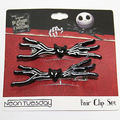 Jack Skellington Bat Bow Tie (Disney The Nightmare Before Christmas Jack Bat Bowtie Hair Clip Barrette 2PK)