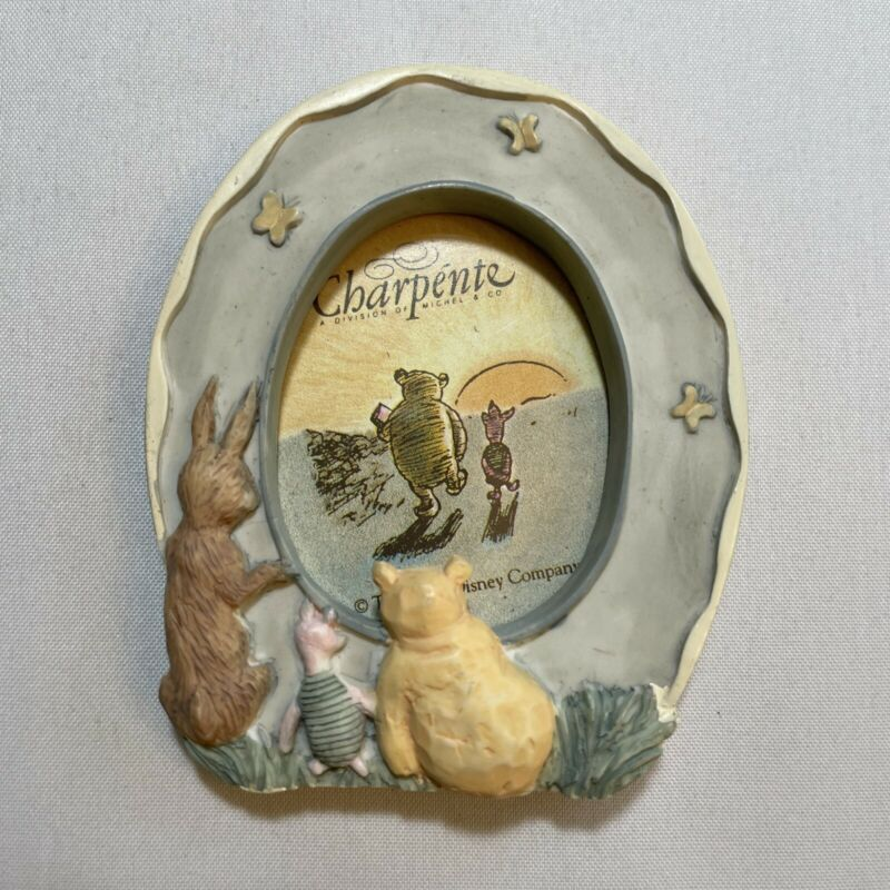 Disney Charpente Winnie The Pooh Ceramic Magnet Photo Frame