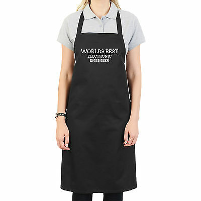WORLDS BEST ELECTRONIC ENGINEER PERSONALISED APRON GIFT UNIQUE Worlds Best Electronics