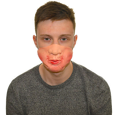 Half Face Puffy Cheeks Funny Fancy Dress Latex Mask For Kids & Adults Halloween - Puffy Dresses For Halloween