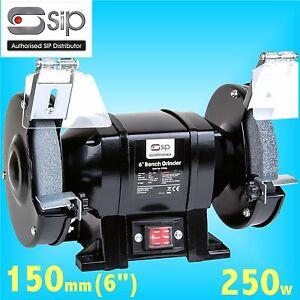 SIP 07546 Trade 150mm 6 Bench Grinder 240v grindstone grinding wheel steel bar