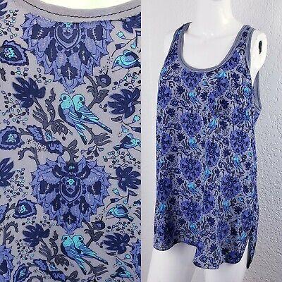 Rebecca Taylor Lovebirds Floral Sleeveless Silk Top Blouse Tank Cami Sz 6