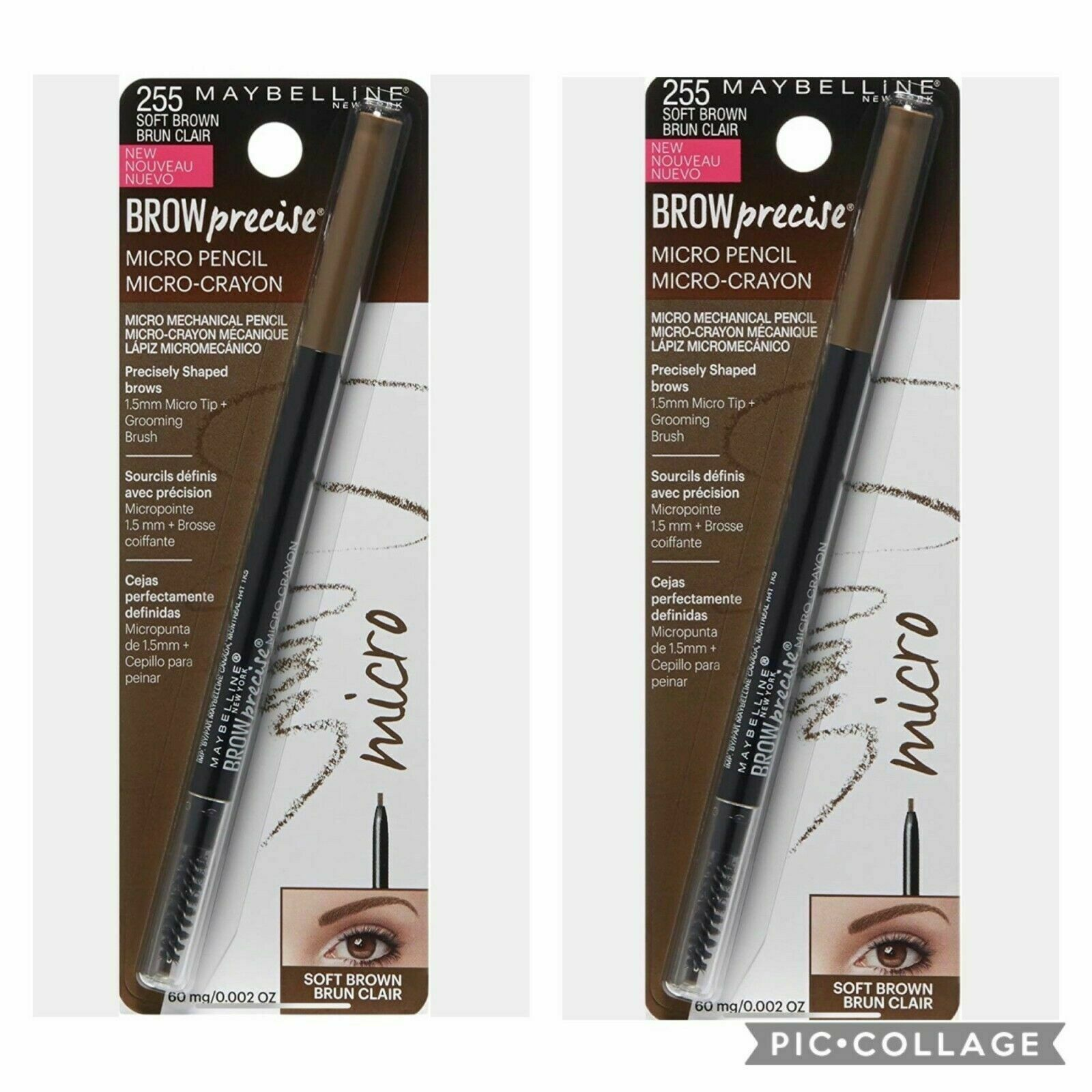 Maybelline New York Brow Precise Micro Pencil, Soft Brown, 0