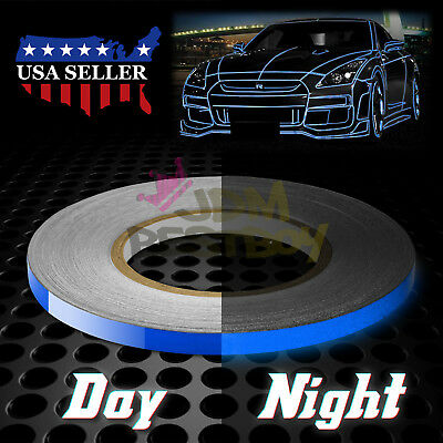 Blue Reflective Tape Safety Self Adhesive Striping Sticker 150ft Roll 1cm