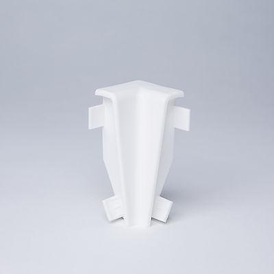 Ecken, Verbinder und Abschlüsse für Sockelleisten 60mm weiß