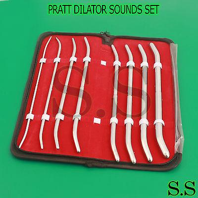 New Premium Grade 8 Ea Pratt Dilator Sounds Set Surgical Medical Instruments