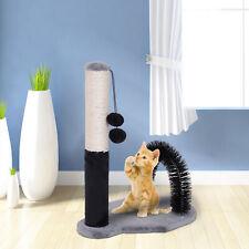 Cat Scratching Post Pet Scratcher w/ Arch Self Groommer 2 Balls Sisal
