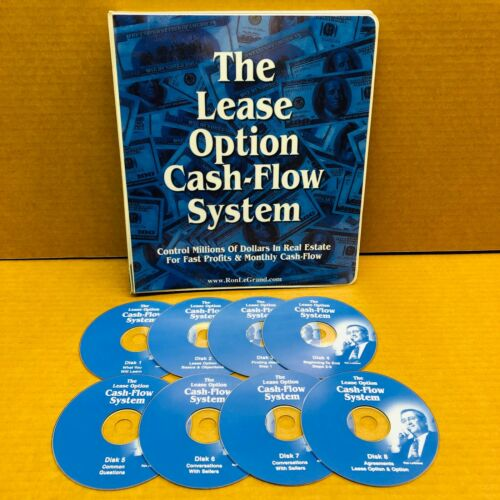 The Lease Option Cash-Flow System by Ron LeGrand Course Manual + 8 CD