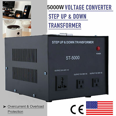 5000 Watt Step Up & Down Voltage Transformer Power Converter 110 to/from 220V US