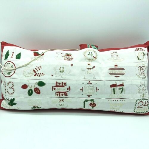 Advent Calendar Christmas Pillow