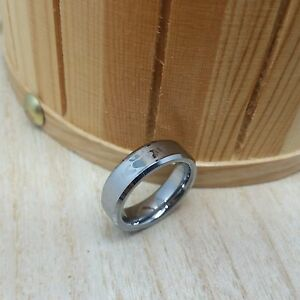 6mm wide Tungsten Carbide ring with Laser engraved Irish Claddagh Design