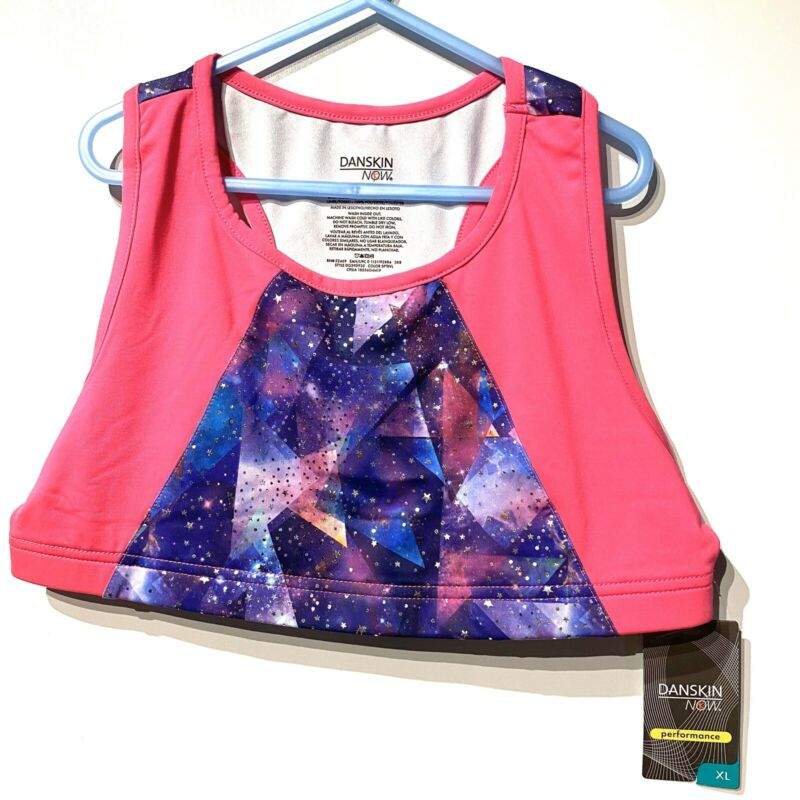 danskin now girls sleeveless dance crop top size XL extra large 14 16