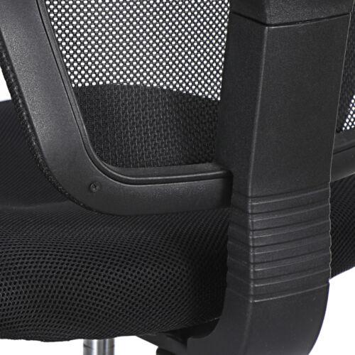 Black Ergonomic Executive Mesh Chair Swivel Mid Back Office Chair Computer Desk  10