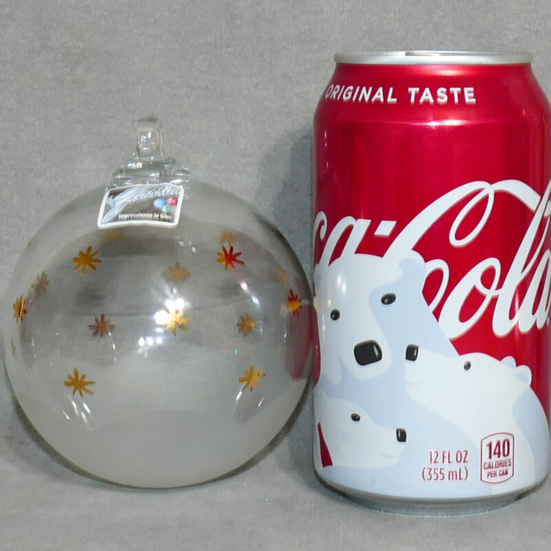 Christmas Ornament Glass UNSILVERED Ball GLASSICS IMPRESSION Clear USA SELLER