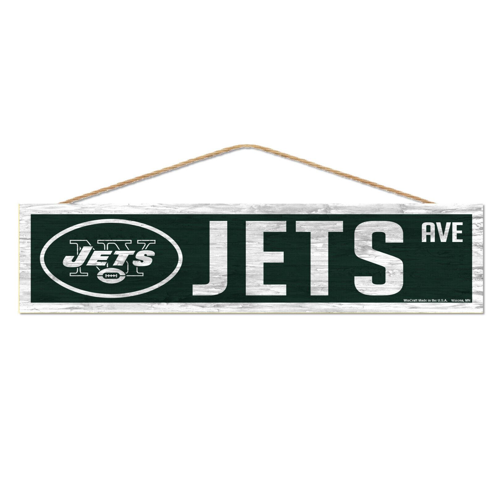 NFL New York Jets NY Avenue Wood Sign Holzschild Holz Wandschmuck Deko