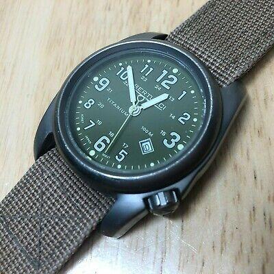 BERTUCCI Men 100m A-2T Titanium Military Analog Quartz Watch Hours~Date~New Batt