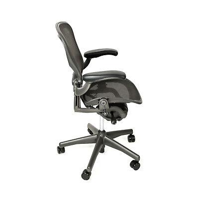 Herman Miller Aeron Office Chair Size B With Free Carpet Floor Mat