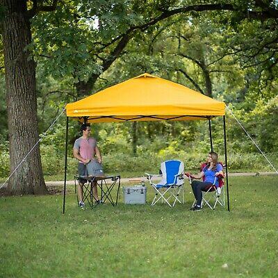 Tailgate Gazebo - 10 x 10 YELLOW Instant EZ Canopy Pop Up Party Tent Tailgate Gazebo Sun Shelter
