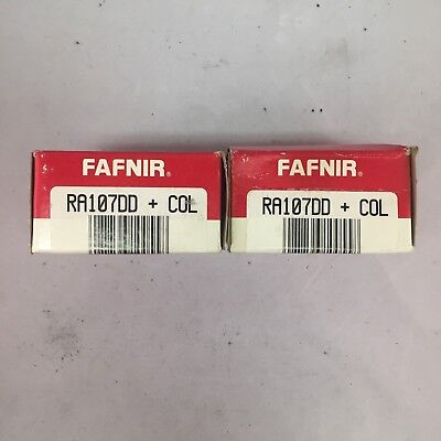 Fafnir Ra107dd Ball Bearings With Collars - Lot Of 2 - New