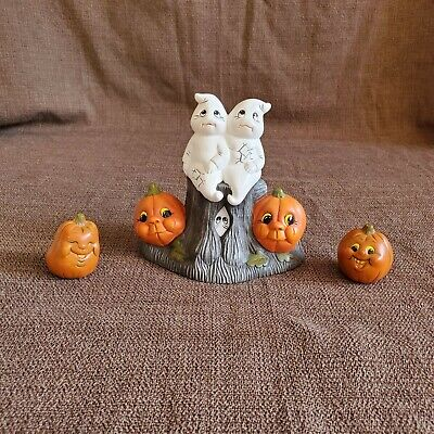 Cute Halloween Ghosts & Pumpkins with Sound Ceramic Hand Painted