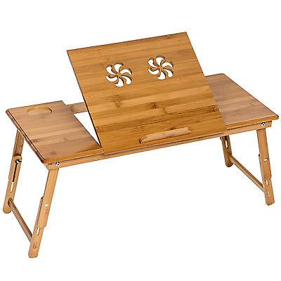 Table de lit pliable pour PC portable notebook iPad tablet en bambou pliant XXL