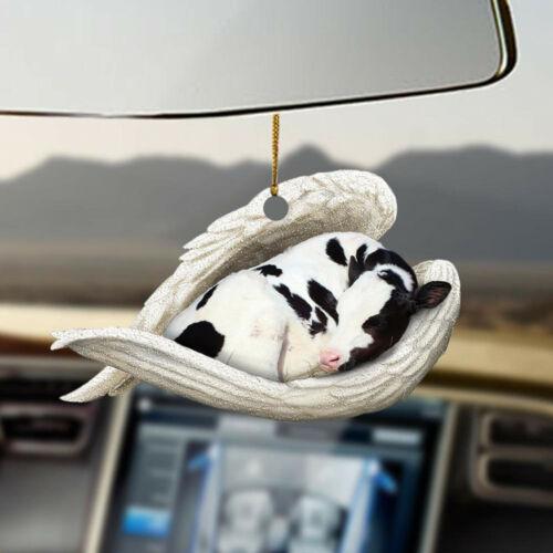 Cow sleeping angel cow lovers ornament