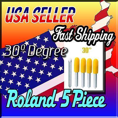 5x 30 Degree Roland Plotter Vinyl Cutter Blade Knife Mimakivinyl Expressallen