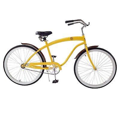 NOS Lowrider Chopper Beach Cruiser Bicycle V Mirror Gold W Green Reflectors Bike